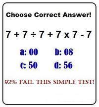 「7+7÷7+7×7−7=?」 92%が間違えてしまうという問題が海外で話題に