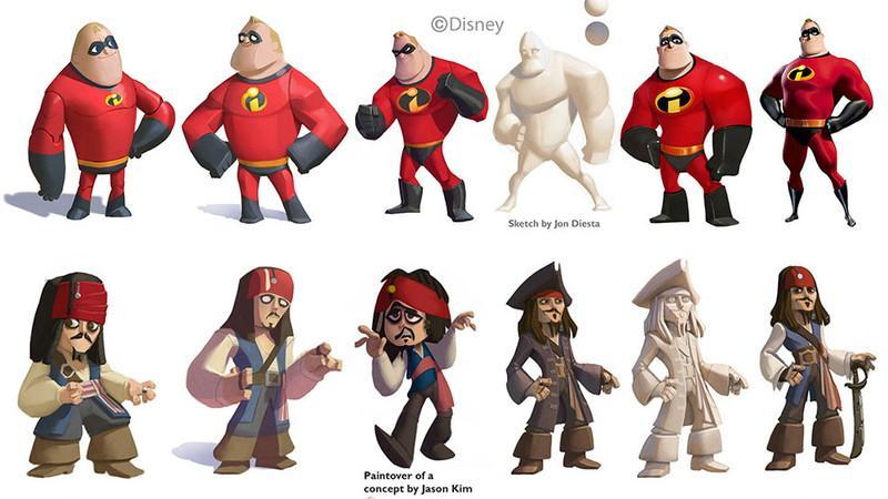 絵師が公開する『ディズニーインフィニティ』のキャラクター・デザインの裏側。多数の登場人物を同じテイストに揃えるには