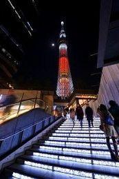 東京タワーとスカイツリーが冬のおめかし 2大タワーで「イルミの競演」
