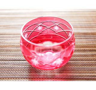ピンク色がかわいい! レトロデザインの切子のぐいのみ - Ameba ...