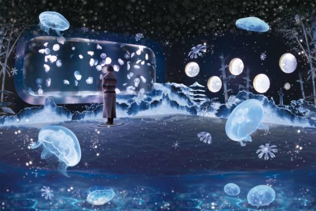五感で体感できるアロマの雪って? 京都水族館「雪とくらげ」幻想的アートにうっとり