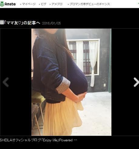 SHEILA 大食い直後の妊娠4か月・ギャル曽根のお腹公開