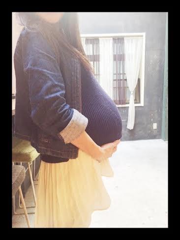 ギャル曽根 胎児の体重が2900gになったことを報告