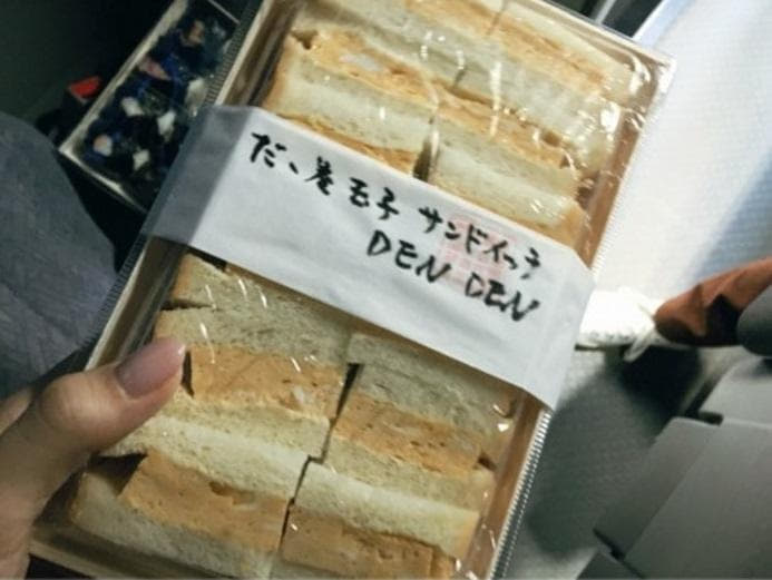 蛯原友里 おにぎり屋さんが作った卵サンドの写真公開