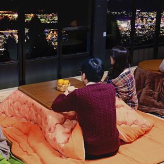 兵庫県・六甲山に5日間限定こたつカフェ登場! 神戸の夜景とこたつを堪能