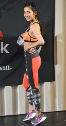 中村アン、公開トレーニングで美ボディ披露