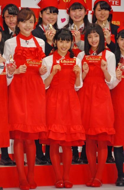 土屋太鳳&松井愛莉&広瀬すず、エプロン姿で手作りチョコ 本命は?