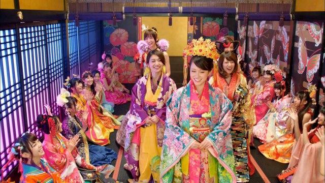 AKB48 前田&大島ら参加大奥風MV公開 「ヘビロテ」彷彿キスシーンも