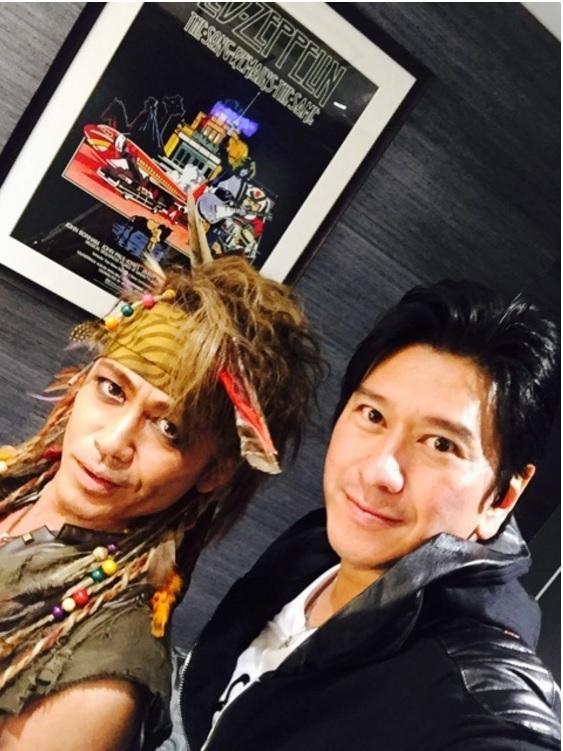 川崎麻世 諸星和己と2ショット公開「ジャニーズ最後の後輩」