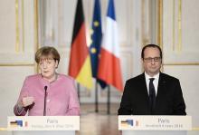 難民問題、トルコの協力要請=独仏首脳が結束確認-パリ