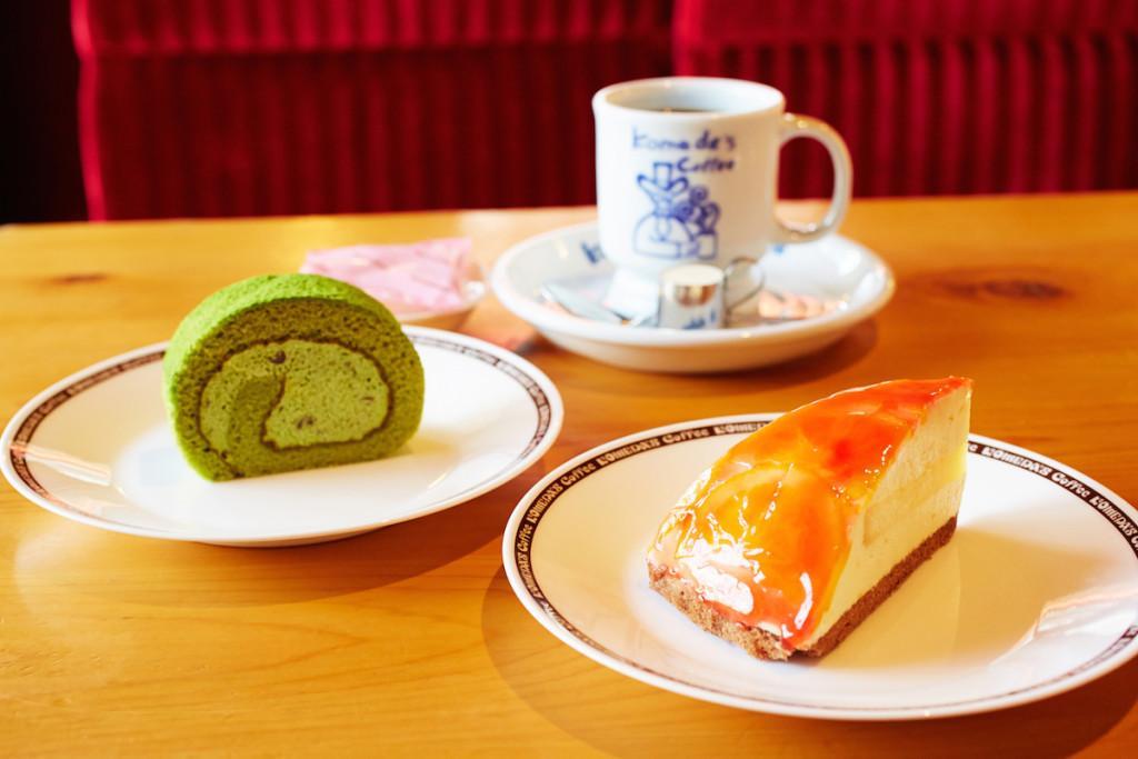太陽と新緑を感じさせる季節のデザート コメダ珈琲店でのくつろぎのお供に