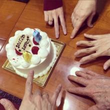 DAIGO 北川景子と実家で38歳誕生会、手の集合写真公開