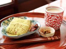米と米麹のみの甘酒ときな粉たっぷりの力餅うぐいす