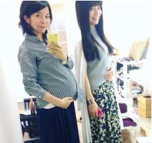 三倉茉奈 出産直前の佳奈と「ビフォーアフターみたい」な写真