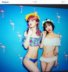 藤田ニコルが水着写真公開で「ガリガリだね」ど驚かれる