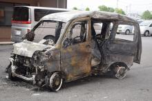 軽自動車衝突炎上、4人死亡=右折中、大型バイクと-群馬・太田