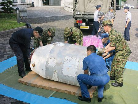 北朝鮮ミサイルの破片を分析