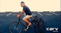 ペダルをこいだら歩く 後輪が「足」のキメラな自転車