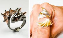 赤ちゃんドラゴンが巻き付く指輪がかわいい♡