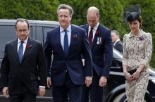 第1次大戦戦場跡で式典=EU離脱も協調アピール-英仏