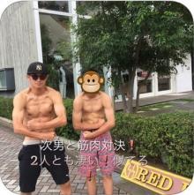 三浦りさ子 カズが次男と筋肉対決したムキムキ2ショット公開