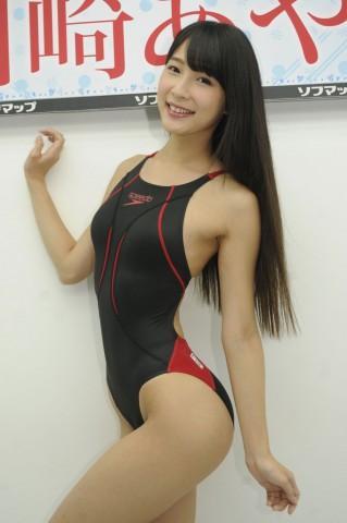 「勝負水着はハイレグ競泳」くびれ美人川崎あやの超絶ボディライン