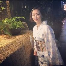 中山美穂、映画打ち上げに浴衣で参戦「大成功!」