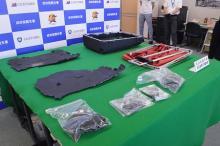 スーツケース内側と一体化=覚せい剤密輸、新手口摘発-東京税関支署