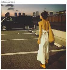 中村アン、美背中あらわなバックショットに反響「セクシー」「うっとりするほどキレイ」