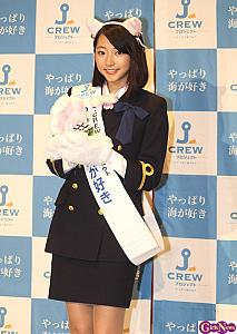 武田玲奈がネコ耳の船員に!?  「航海士になって船の操縦をしてみたい」