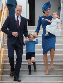 英王子一家がカナダ訪問=1歳の王女は「初外遊」