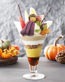 秋の果物ぎっしり!京橋千疋屋の贅沢すぎるハロウィン限定パフェが話題