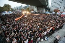 大阪府大阪市でニコニコ町会議を開催。西川きよし氏、村上ショージ氏が町会議に登場