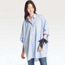 ユニクロ春の新作! ワードローブにぴったりな「オーバーサイズロングシャツ」