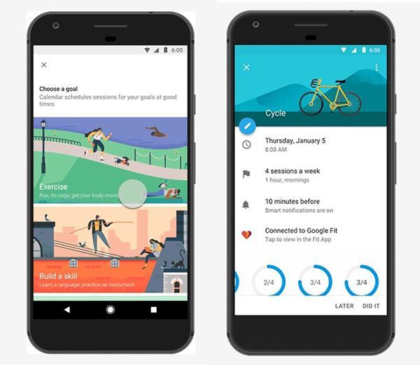 Googleカレンダーがダイエットなどの目標達成をサポート、Android/iOSと連携