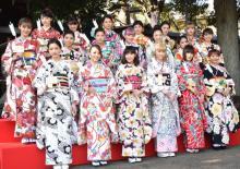 E-girls、晴れ着姿で初詣 藤井夏恋が新成人の誓い「少しお姉さんに」