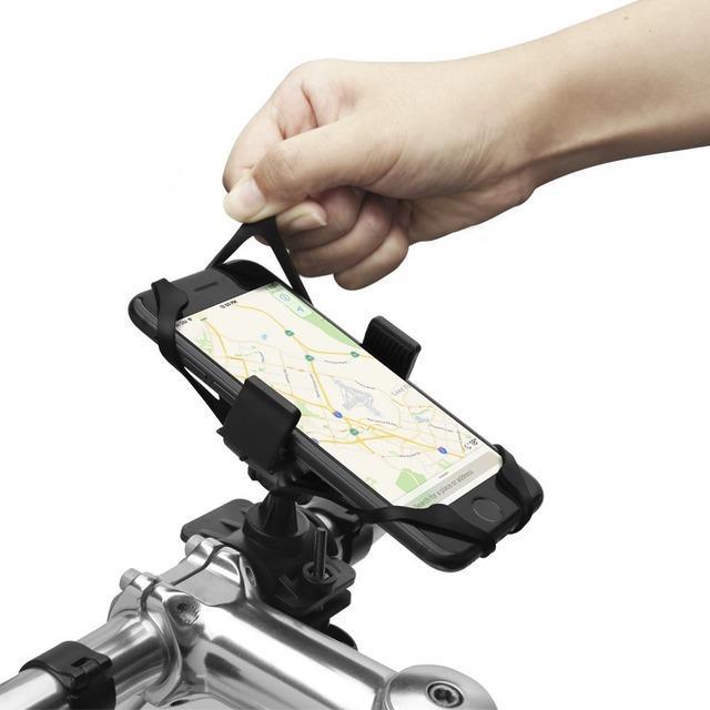 頑丈に固定でき取り付けも簡単な360°回転式バイクマウントホルダー「A250」