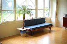観葉植物の木陰にカフェスペースを生み出します「プランツテーブル」
