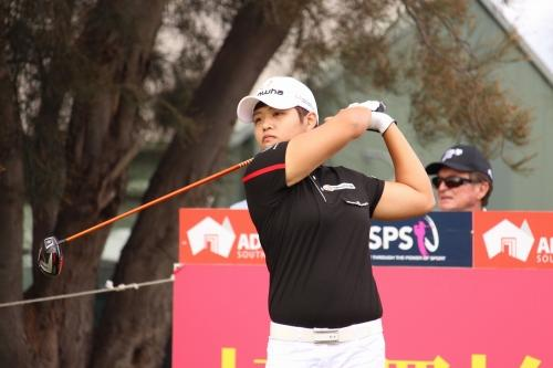 昨年覇者・野村敏京、貫禄の6バーディに「良いゴルフが出来た」