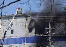 アスクル火災、3世帯避難勧告
