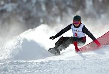 スノーボードの家根谷が金メダル