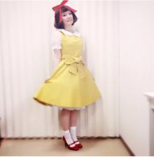千秋 黄色いワンピの「ドラミちゃん風」衣装公開