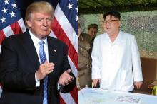 日米晩餐に北朝鮮ミサイル トランプは眼中なしの対応