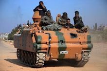 北部バーブ制圧を宣言=シリア反体制派