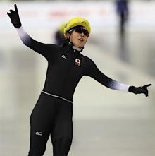 スピードスケートの高木美が3冠
