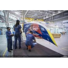 デルタ航空、今秋受領予定のエアバスA350進捗発表--ウィングレットにロゴ