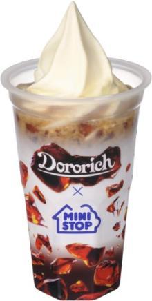ミニストップのソフトクリームとグリコの「ドロリッチ」が合体!ぷるぷるクリーミーな「ドロリッチソフトフロート」