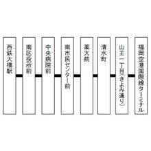 "西日本鉄道、西鉄大橋駅=<span class=""hlword1"">福岡空港</span>国際線のバス新設--最速約20分、1日54便"