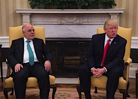 トランプ米大統領、イラク首相と会談