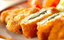 大葉とチーズの相性抜群! お弁当にもぴったりな、チーズインポークカツ